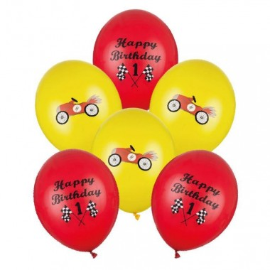 Balony happy birthday 30cm - 6 sztuk