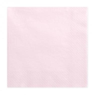 Serwetki pudrowo różowe - 20 sztuk